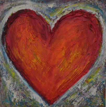Heart Painting by Tami Figliola